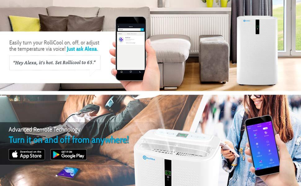 Rollicool Portable Air Conditioner 12000 Btu Heater Dehumidifier Fan App Mobile Ebay