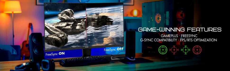 "VIOTEK GN32DA 32"" WQHD Curved Gaming Monitor 1440p 144Hz 4ms"